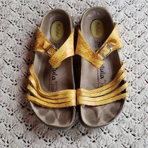 Betula Birkenstock Yellow Strap Sandals